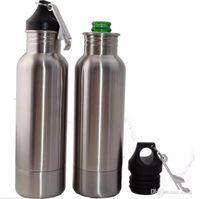 Wholesale Cool Beer Bottle Openers - 600ml Beer Bottle Armour Koozie Keeper Stainless Steel Beer Cooler Sports Bottles Insulator With Bottle Opener 60Pcs