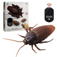 Wholesale hot rc - Hot Sale RC Cockroaches Control Mock Fake RC Toy Funny Simulation Infrared RC Remote Gift For Children Boy