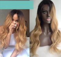 işlenmemiş hazır saç satışı toptan satış-Satışa 2018 8a güzellik 100% işlenmemiş ham bakire remy insan saçı uzun # 1bt18 doğal dalga tam dantel kap peruk kadınlar için
