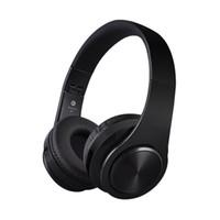 sem fio preto sobre o fone de ouvido da orelha venda por atacado-Fosco acabamento Premium recarregável sem fio fones de ouvido Bluetooth sobre fones de ouvido Fone de ouvido dobrável com microfone, TF fone de ouvido, (preto)