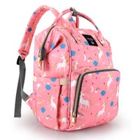 Wholesale pink diapers for sale - Group buy Quenya Fashion Dad Mommy Maternity Bag Wide Open Large Capacity Diaper Bag Backpack for Baby Care Multi Function Waterproof Travel Nappy Bag