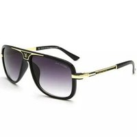 Wholesale golden beam - Double beam Sunglasses Women Flat Top Sqaure Lunette Luxury Brand Designer Black Rivet Sun Glasses for Women Overisze Female