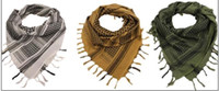 arabische kopfschals großhandel-100% Baumwolle dicke Jagd Armee taktische Keffiyeh Shemagh Wüste arabischer Schal Schal Hals Abdeckung Kopf wickeln Wandern Airsoft Schießen Acces