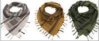 ingrosso sciarpe testa arabe-100% Cotone Spessa Caccia Esercito Tattico Keffiyeh Shemagh Desert Arab Sciarpa Scialle Copricapo Avvolgere la testa Escursioni Airsoft Acces