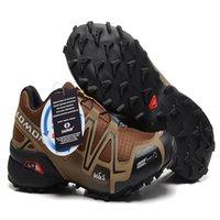 Wholesale male coffee - Solomon Speedcross 3 CS Coffee Black Outdoor Male Camo Sneakers Men Speed Cross Speed 3 Running Shoes Euro 40-46
