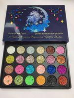 Wholesale glow dark glitter online - 24 Colors Makeup Glow in the dark magic horse Glitter eye shadow palette Creamy Cosmetics Pigment Glitter Shades