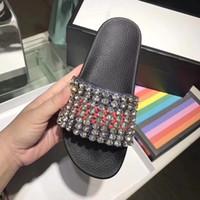 sandalias de mejor diseñador al por mayor-2018 Sandalias de moda zapatillas para hombres y mujeres CON CAJA Hot Luxury Designer flor impreso sandalias de playa unisex deslizador MEJOR CALIDAD # 993