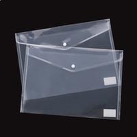 ingrosso plastica di fisarmonica-60pcs Best Transparent Plastic A5 Folders File Bag Document Hold Bags Folders Filing Paper Storage Office School Supplies