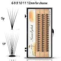 wimpern cluster großhandel-Neue 60 bündel Einzelne Cluster Augenwimpern Wimpernverlängerung 0,1mm Dicke 6/7/8/9/10/11/12/13/14mm für wählen
