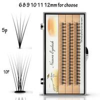 extensions de cils 14mm achat en gros de-Nouveaux faisceaux individuels de 60 faisceaux Cils Extensions de greffe de cils 0.1mm Épaisseur 6/7/8/9/10/11/12/13 / 14mm pour choisir