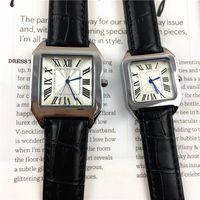 relógio de marca prata venda por atacado-2018 venda Quente relógios de Moda para o homem / mulheres relógio de couro de prata / rosa Rose ouro preto Pulseira relógios de Pulso Da Marca relógio feminino frete grátis