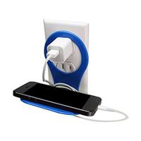 iphone katlanır stand toptan satış-2018 Yeni Katlanır Cep telefonu Şarj Palet Standı Tutucu Seyahat Taşınabilir pil Şarj Asılı Kanca Sucker iphone 5 S 6 S Mp3 ...