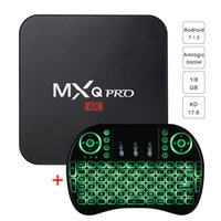 Wholesale core air - MXQ PRO Android Tv Box S905W Quad Core 1GB 8GB 17.6 Media Player with i8 Wireless Keyboard Fly Air Mouse Li-battery