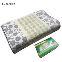almohada de masaje envío gratis al por mayor-Jade Stone Massage Pillow Therapy Cuidado de la salud Cojín de turmalina con paquete de caja Envío gratis para la venta