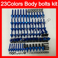 Wholesale Screws Bolts - Fairing bolts full screw kit For YAMAHA R6 YZFR6 03 04 05 YZF-R6 YZF600 YZF 600 YZF R6 2003 2004 2005 Body Nuts screws nut bolt kit 23Colors