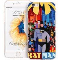 iphone 5s batman silikon kılıf toptan satış-Renkli Batman Superhero Çapa Temizle Yumuşak TPU Silikon Telefon Kapak iphone X 7 8 Artı 5 S 5 SE 6 6 S Artı 5C 4S 4 iPod Touch 6 5 Kılıfları.