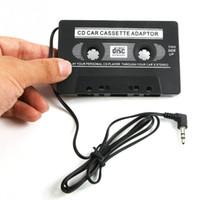 ingrosso dvd neri-Adattatore per audiocassetta per auto connettore 12-24V 3.5mm Per iPod Ipod MP3 CD MD DVD Per Clear Sound Music Black