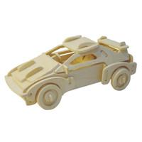 coche de juguete de madera diy al por mayor-Puzzle de madera para el transporte de tráfico en 3D, modelo de bricolaje para automóvil, juego de rompecabezas, rompecabezas para niños, adultos