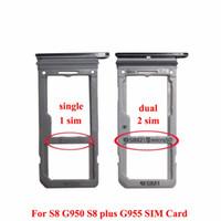 substituição do slot venda por atacado-100% novo duplo único sim suporte de bandeja de cartão de memória micro samsung slot slot para samsung galaxy s8 g950 vs s8 além de g955 50 pcs