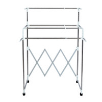 Wholesale Adjustable Folding Clothing Hanging Drying Rack Clothes Storage Organization Drying Hanging Portable Wardrobe Bottom Storage Organizer NB