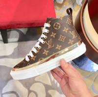 high ankle sneakers großhandel-Stellar Sneaker Boot High Top Damen Designer Sneakers Stiefeletten Booties Frau Mode Boot Weibliche Luxus Designer Schuhe mit Box und Taschen