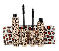 Wholesale Love Alpha Mascara - New Leopard Print Love Alpha Black Eye Mascara Long Eyelash Silicone Brush curving lengthening mascara Waterproof Makeup