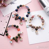 nationale diy großhandel-Perlenarmband der bunten Glaskorne neuer Kronenfrau DIY europäisches und amerikanische kreative Verkaufsweinlese nationale Artschmucksachearmband
