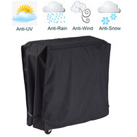 ingrosso ghiacciaia-Nero Cooler Cover Impermeabile Rolling Cooler Patio Cooler Cover Protezione per 80T Outdoor Beverage Carrello Rolling Ice Chest Par
