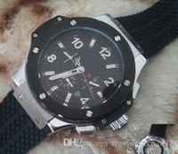 Wholesale bangs online - Top quality men Hublot automatic BIG BANG steel golden white watch mechanical sport mens watches rubber band glass