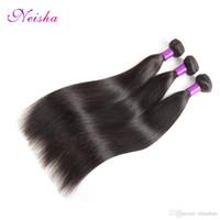saç örgüsü demetleri satın alma toptan satış-Hint Düz Saç İnsan Saç Demetleri 10