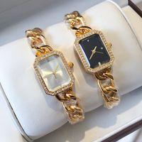pulsera de hebilla de acero al por mayor-Relojes De Marca Mujer Nueva Marca Top Moda Mujer Pulsera Reloj Marca Acero Inoxidable Reloj de pulsera de señora de lujo clásico de la joyería de cuarzo hebilla