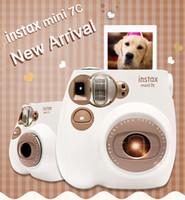 câmeras de filme instantâneas venda por atacado-Novo Genuíno Fuji Instax Mini 7C 7S Câmera Impressão Instantânea Filme Fotográfico Instantâneo Câmera de Tiro