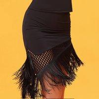 ingrosso moda latina vestito-Nero moda nappa adulto latino ballo gonna per le donne / donna / ragazza, Vogue Ballroom costume pratica usura vestito usura QE0216