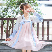 kız çince kostümleri toptan satış-Kadınlar Ulusal Hanfu Çin Halk Dansları Kostüm Lady Tang Prenses Cosplay Kostümleri Kız Antik Çin Geleneksel Giyim