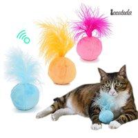 gebissene katze großhandel-Lustige Katze Spielzeug Interaktive Weiche Plüsch Ball Widerstand Biss Kauen Spielzeug Zähne Schleifen Mint Catnip Spielzeug Für Katzen Kitten Pet Supply