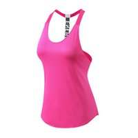 Wholesale wholesale quality yoga pants online - Yuerlian New Beer Quality Fitness Tight Sports Yoga Shirt Quickly Dry Sleeveless Running Vest Workout Crop Top Female T shirt