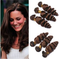 Wholesale chocolate hair weave 16 inch resale online - Dark Brown Brazilian Human Hair Weaves Extensions Loose Wave Chocolate Brown Virgin Brazilian Human Hair Bundles Deals quot