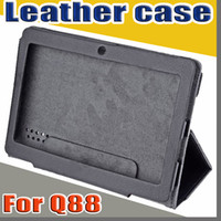 Wholesale colorful quot flip leather case for Haipad Q88 Allwinner A13 A23 A33 Q8 inch tablet pc protect skin