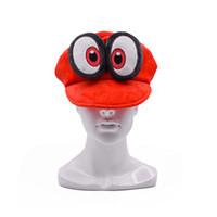 super costumes venda por atacado-Hot New Super Mario Bros Odyssey Cappy Chapéu de Pelúcia Anime Velo Cosplay Tampas Quentes Trajes Melhores Presentes Chapéus Macios