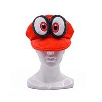 anime peluche regalo al por mayor-Hot New Super Mario Bros Odyssey Cappy Sombrero de peluche Anime Fleece Cosplay Gorras de abrigo Disfraces Mejores regalos Sombreros suaves