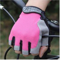 fingerlose golfhandschuhe frauen großhandel-Anti-Rutsch-Gel Half-Finger-Handschuhe für Frauen Männer Outdoor Sports Badminton Fitness Bergsteigen Fahrrad Fahren Fingerless