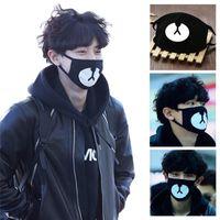 ingrosso maschera nera-Cotton Mouth Face Mask Unisex Stile Coreano Kpop Orso Nero Ciclismo Anti-Polvere Maschera di Bocca Maschera Copertura Protettiva Del Viso 1 PZ