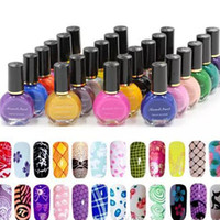 Wholesale Color Stamp Nail Polish - New Fashion Special Nail Polish 26 Color optional For Nails Art Stamping Print 10ML Free Shipping