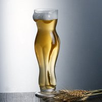 Wholesale Whiskey Crystal - 500ML Crystal Whiskey Wine Drinking Cup Sexy Women Shot Glass KTV Cup Beautiful Naked Lady Body Novel Shot Beer Glasses Pint Juice Glass