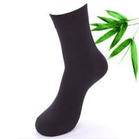 ingrosso vestito classico degli uomini-Design 5 paia / lotto Cotton 67% Bamboo Fiber Classic Business Deodorant Socks da uomo vestito da uomo calzino maschile