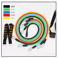 11 Pcs Set Latex Resistance Bands Crossfit Training Exercise Yoga Tubes Pull Rope,Rubber Expander Elastic Bands Fitness with Bag