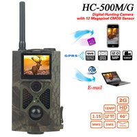 Wholesale Gprs Mms - HC500M Hunting Camera 2G GPRS MMS 16MP 1080P 120 Degrees PIR 940NM Infrared Wildlife Trail Cameras