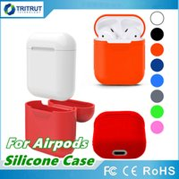 Wholesale wire thin - 2018 New For Apple Airpods Silicone Case Soft TPU Ultra Thin Protector Cover Sleeve Pouch for Air pods Earphone Case MQ50