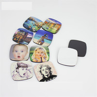 Wholesale custom sticker prints for sale - Group buy mdf fridge magnets for dye sublimation wooden custom fridge magnet hot transfer printing diy blank consumables supplies DI mix styles