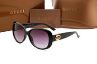 Wholesale Cat Street - New brand high quality retro love multicolored ocean slice 3660 sunglasses street pea-heart shaped sunglasses.